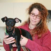 """Tatiana Lentze  Hundebesitzerin, Tierärztin und Verhaltensmedizinerin, hat das Projekt Prevent a Bite Bern und Umgebung mehrere Jahre geleitet,ihren Hunde """"Dunja"""" und """"Mellow"""" gehörten auchzum PAB-Team"""