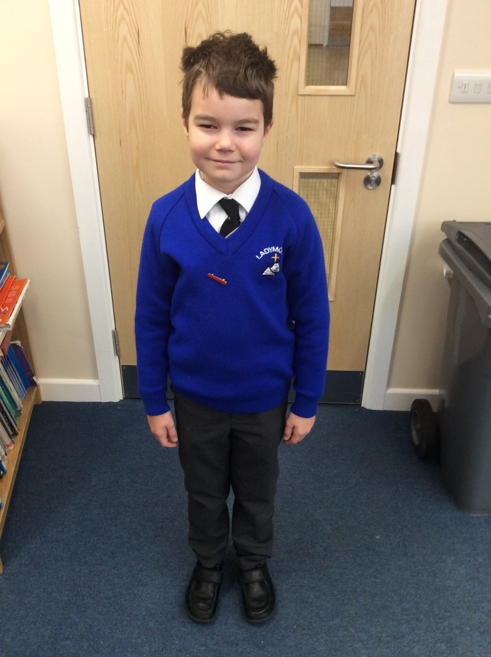 Hello, my name is Harry from Year 5 and I am the elected secretary of Ladymount School Council. I am responsible for recording the minutes of our meetings and will ensure that everyone has a copy of the minutes to share with their class.