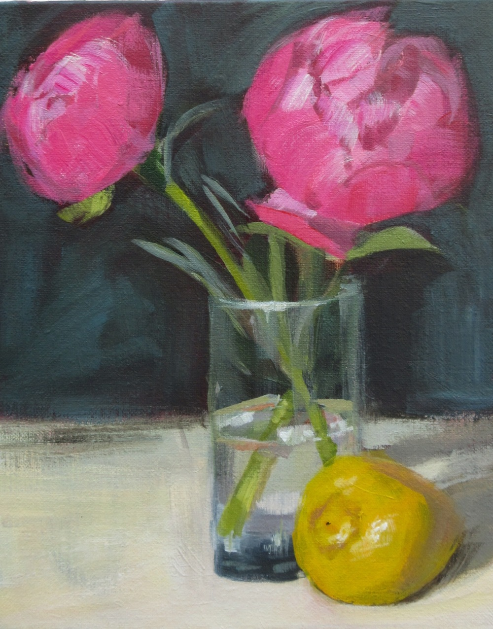 Peonies and Lemon