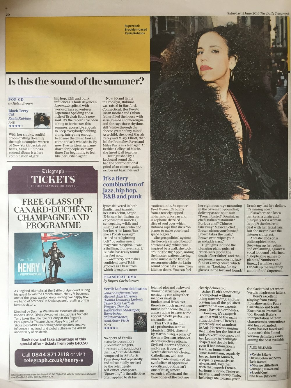 Xenia Rubinos - Daily Telegraph