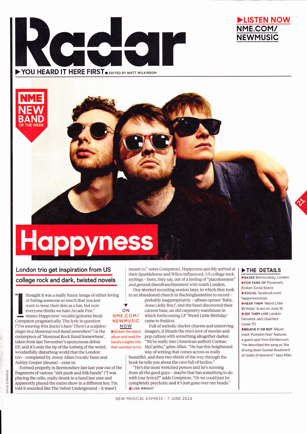 Happyness - NME