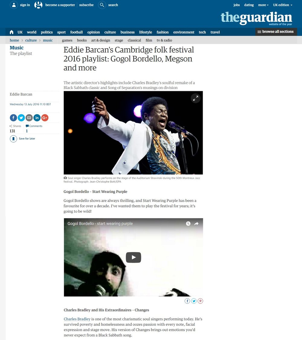 Cambridge Folk Festival - The Guardian