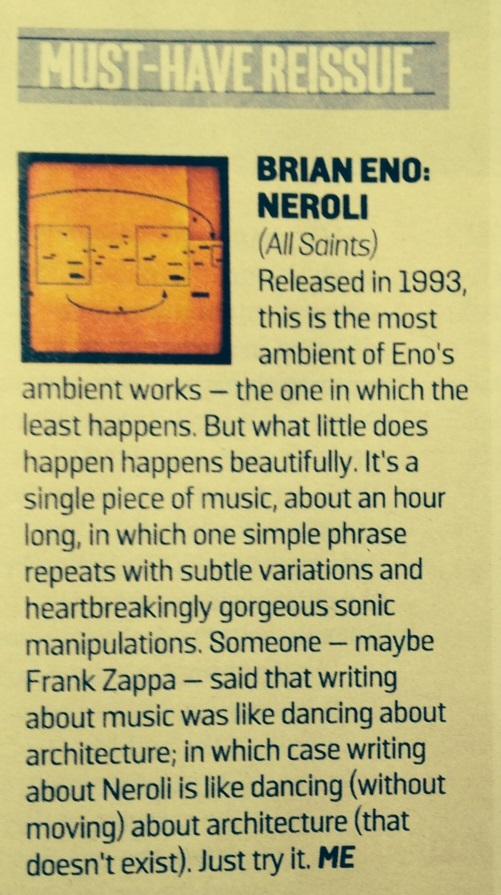 Brian Eno - Sunday Times