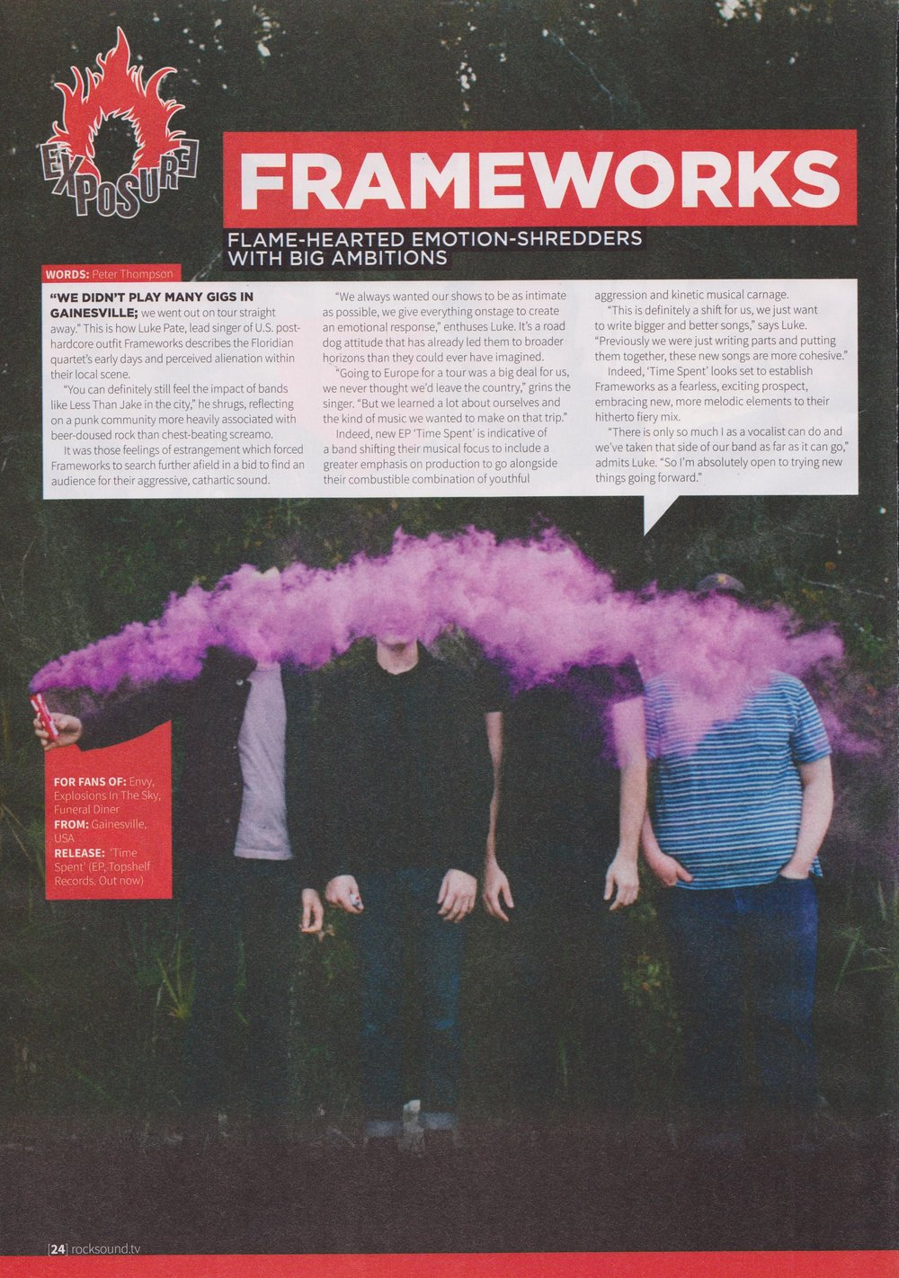 Frameworks - Rock Sound Exposure