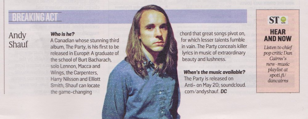 Andy Shauf - Sunday Times