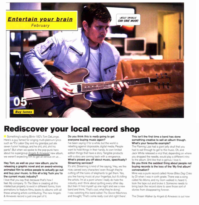 Angels & Airwaves - FHM feature with Tom DeLonge