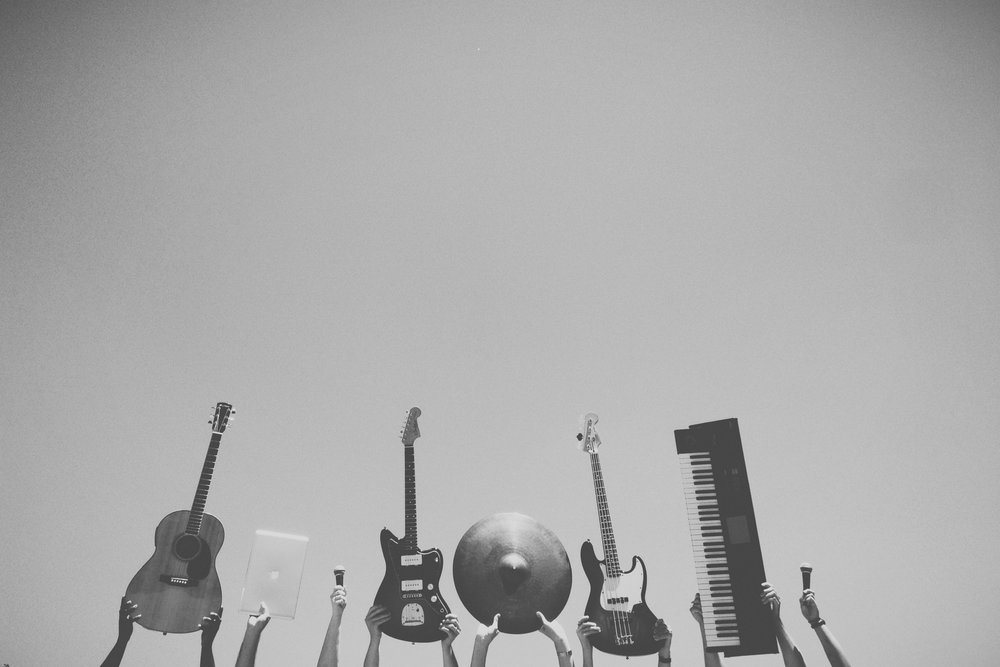 Instruments - a photo accompanying an article about how to raise your band's profile in 2018