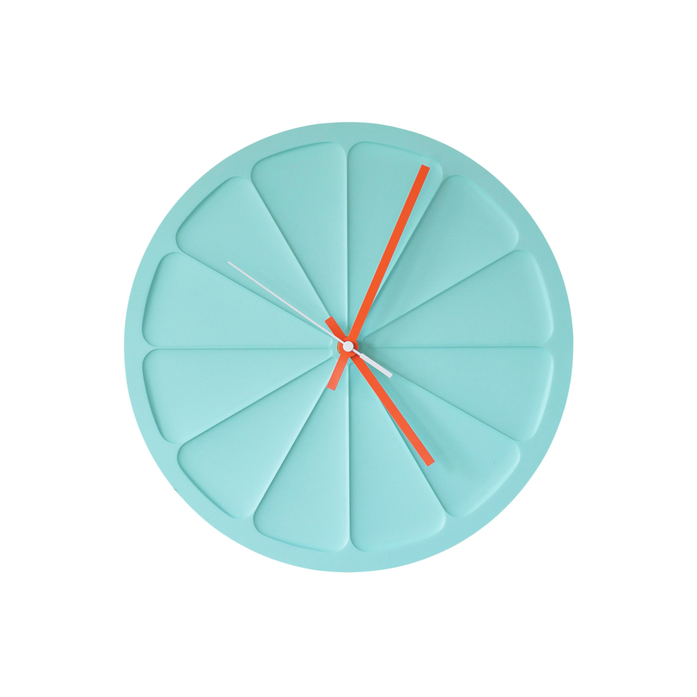 A clock in Mint Green