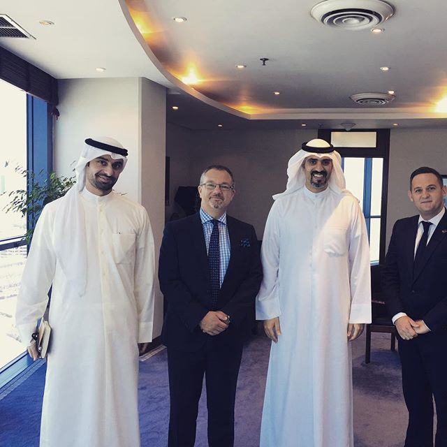 A real pleasure to see our friends at KDIPA this morning @kbbcentre CEO Martin Hall with British Ambassador Matthew Lodge, Sheikh Abdullah Al Sabah and KDIPA Director General Dr Meshaal Al Sabah #Kuwait #kuwaitexport #investinq8 #ukkuwait #kuwaitbusiness #kdipa #kbbc