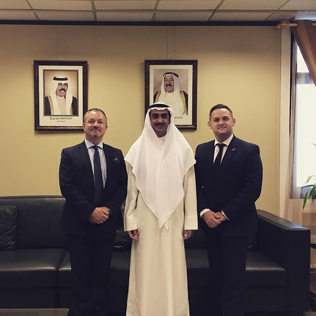 @kbbcentre CEO & British Ambassador Matthew Lodge meeting with HE Dr.Yousef Al Ali Kuwait's Minister of Commerce & Industry #ukexport #ukkuwait #kuwaitexport #kuwaitcity #kuwaitbusiness #moci #trade