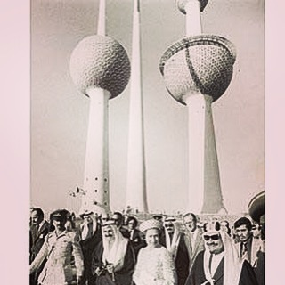 #godsavethequeen Her Majesty at the Kuwait Towers in 1979 #longestreign #ukkuwait #queen #longtoreignoverus @kbbcentre