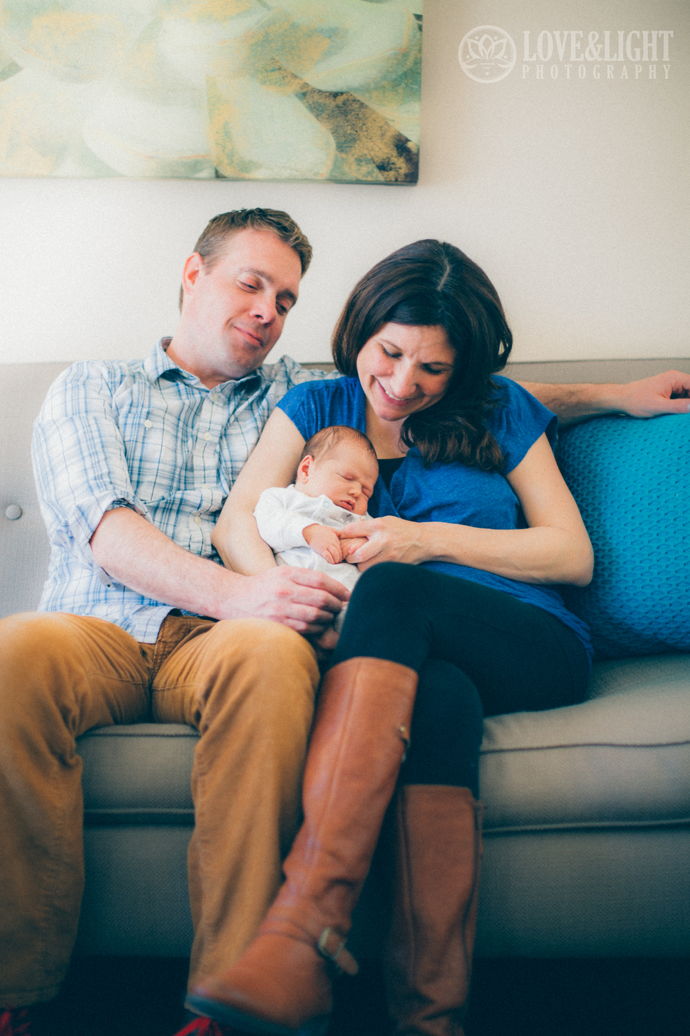 Children are a product of their up-bringing.  No surprise here.  Melissa & Jeff surround their babies in Love & Light.