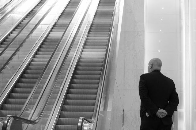 Escalator+and+Guard+BW.jpg
