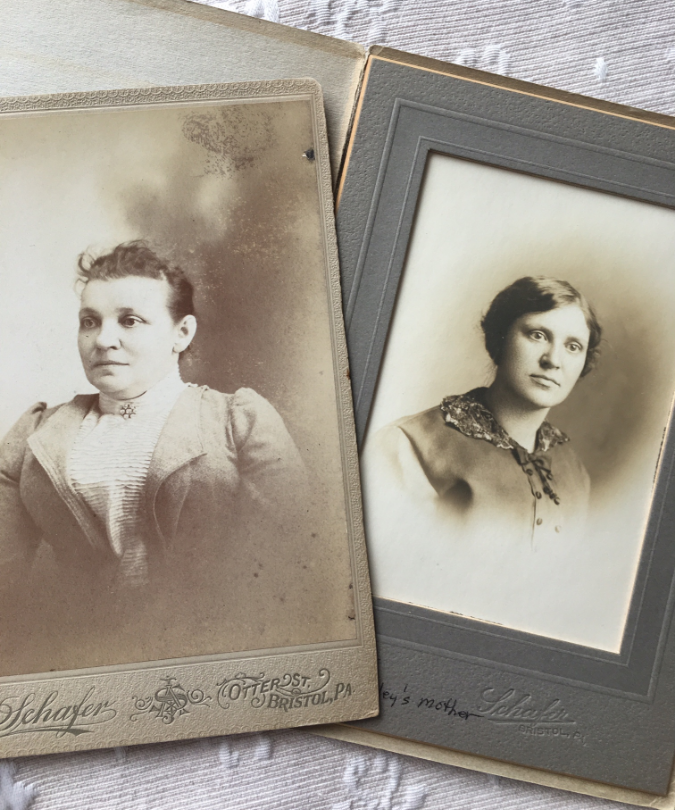 My 2 times great grandmother Annetta and her daughter, Ida, my great grandmother.