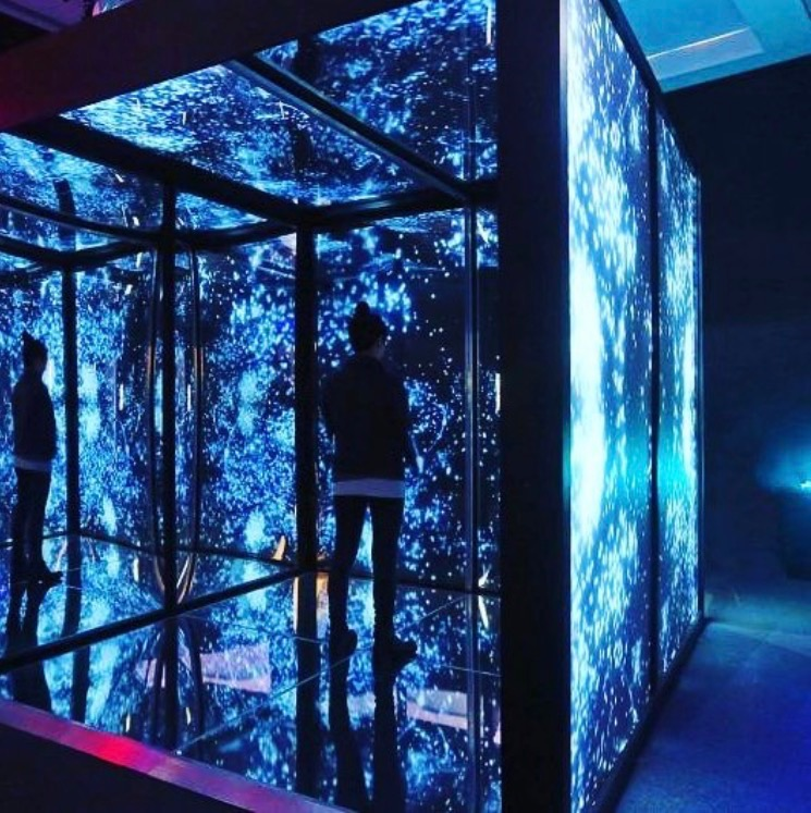 Iyvone Khoo.  Infinity Cube , 2017. Installation, video projection & audio