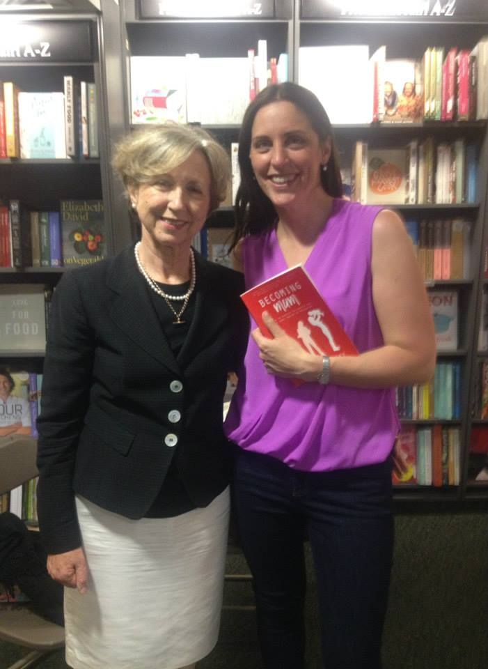 Olivia O'Leary and Kate Carbery at the launch of Becoming Mum in Hodges Figgis, Dublin.