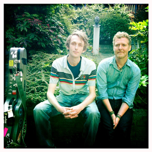 Dan Hegarty with singer Glen Hansard, one of the contributors to  Buried Treasure.