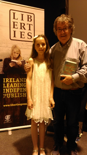 Éabha Lawlee pictured here with Gabriel Fitzmaurice.