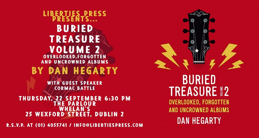 Invite to the book launch of Buried Treasure: Volume 2