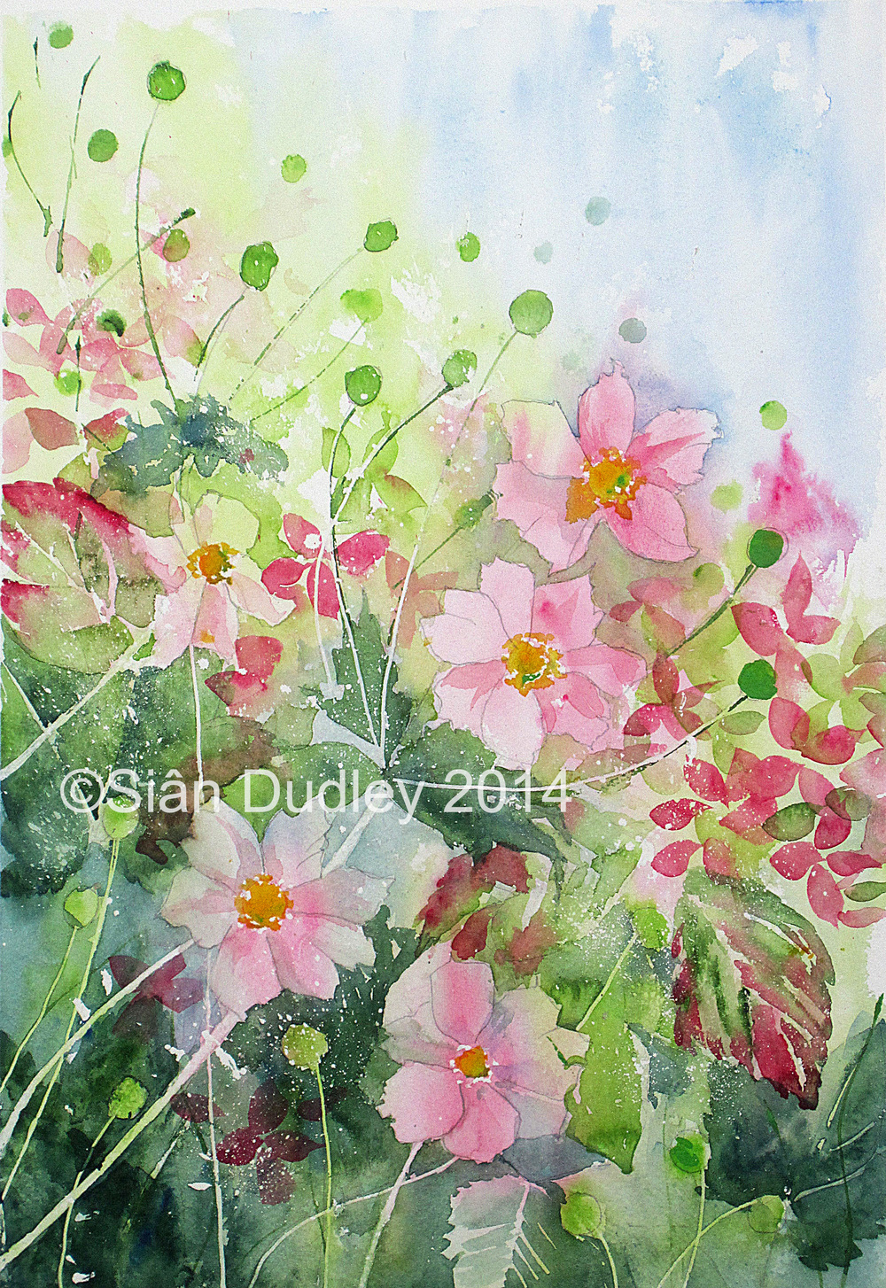 Example demonstration: watercolour   Sian Dudley