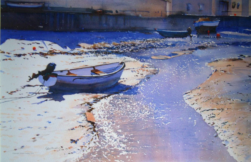 Simon' s Boat  Watercolour sold