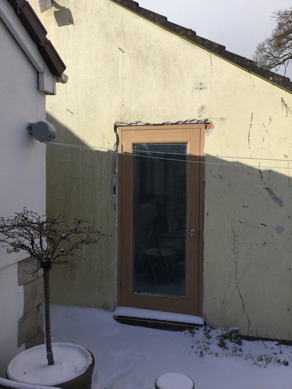 Lovely new door.