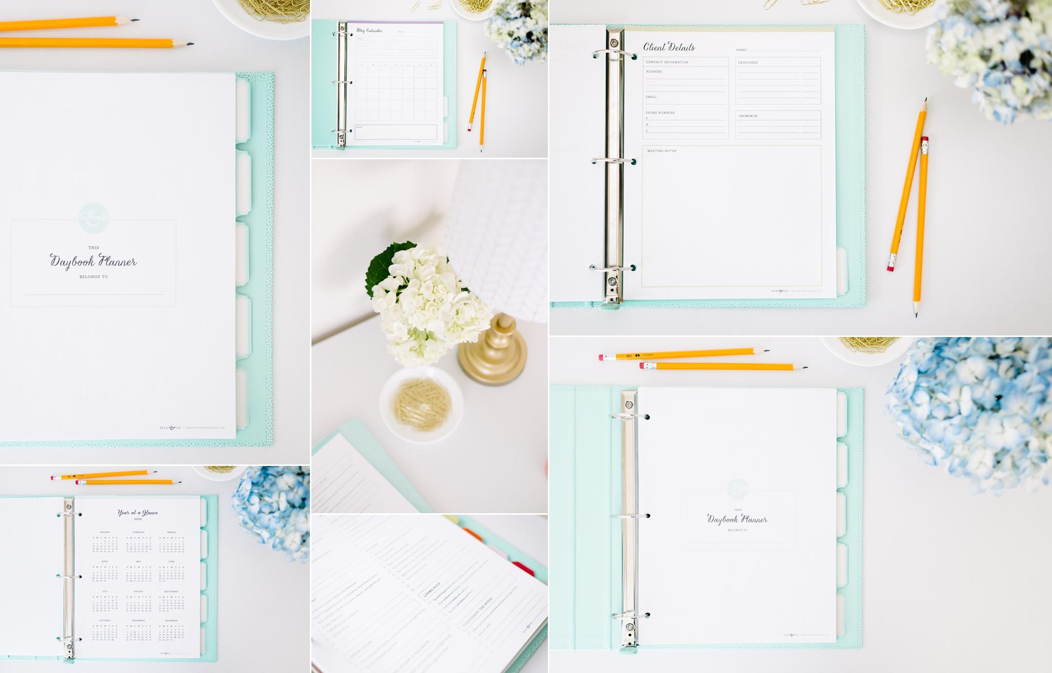 Simple Clean Daybook Planner Elle & Co-24