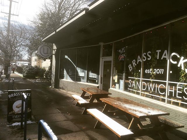 HEY PORTLAND:: Despite this Willy Wonka Weather, we are OPEN REGULAR HRS today!! That's 10am-7pm for those of you who haven't memorized our schedule yet ;) Our sidewalks are clear, the sun is coming out, and weeee could even brush the snow off our outside seating for you if you prefer. Come hang out with us today, try our BLATT (Bacon, lettuce, avocado, ttomato with provolone and mayo), or our BBQ tofu bahn mi special! Keep us company on a quiet day~