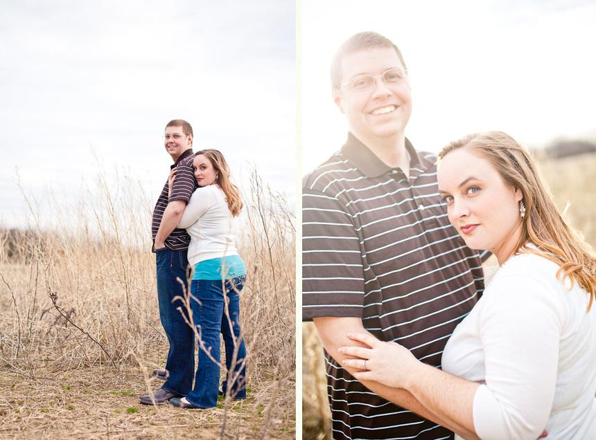 Dayton Engagement Photographer :: Field Film Grain