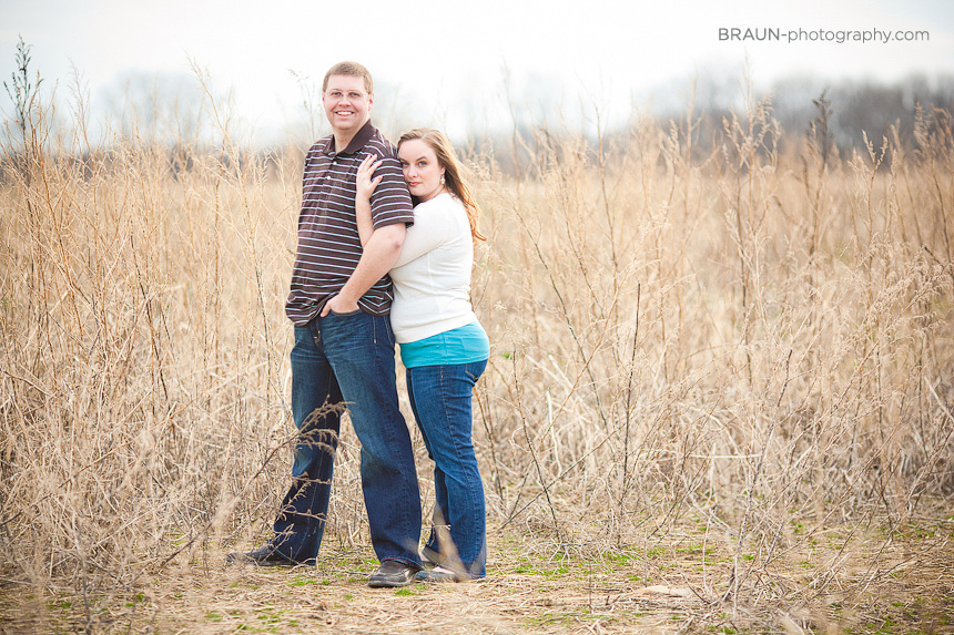Dayton Engagement Photographer :: Field Film Grain