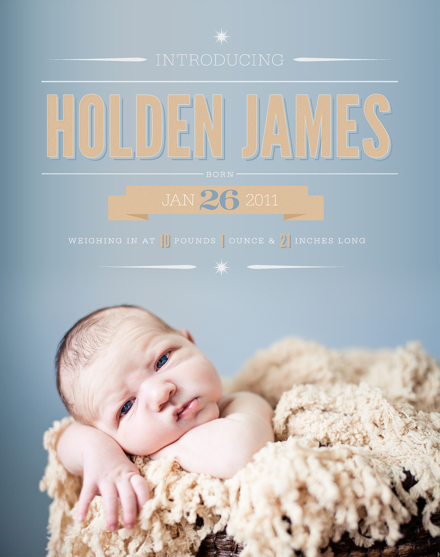 Dayton Ohio Childrens Newborn Photographer :: Announcement