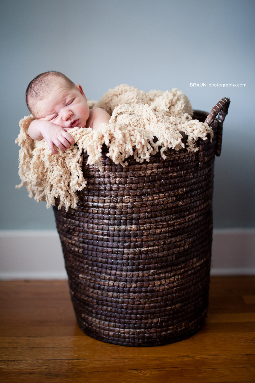 Dayton Ohio Childrens Newborn Photographer :: Baby in a Basket