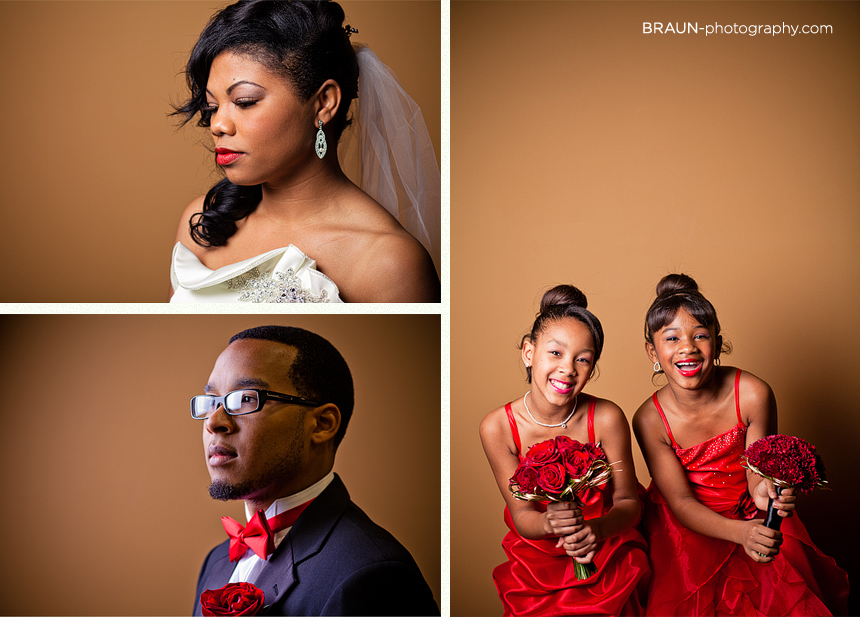 Columbus Ohio Wedding Photographer :: Bride, Groom, and Two Young Bridesmaids