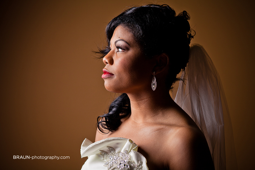 Columbus Ohio Wedding Photographer :: Bride Profile Portrait