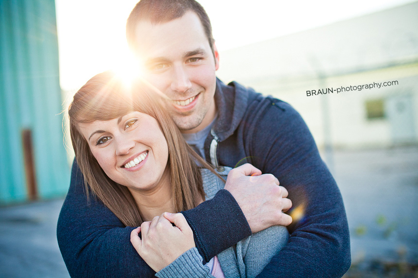 St. Louis Couple Photographers : Urban Sun Flare