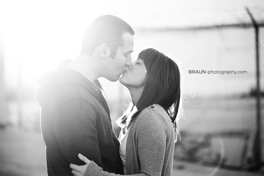 St. Louis Couple Photographers : Black & White Sunflare