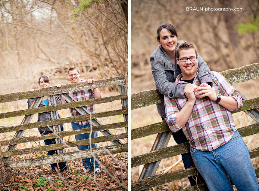 St. Louis Engagement Photographer :: Couple at a Gate