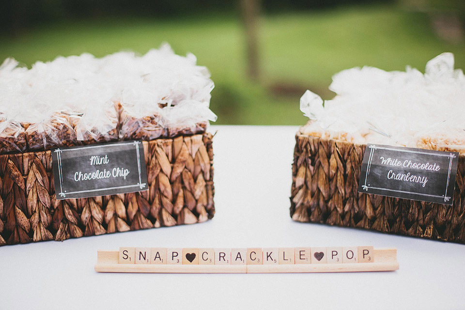 Rice Krispy Treat Wedding Favors