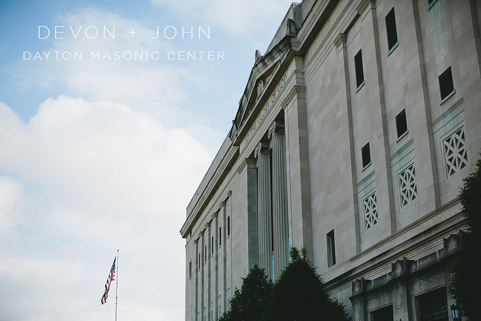 Wedding Photography at the Dayton Masonic Center