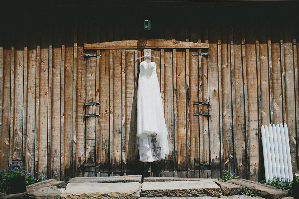 Snode's Restored Country Barn Wedding Ohio Gown Dress