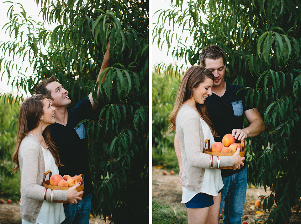 Eckert's Peach Picking Engagement Session