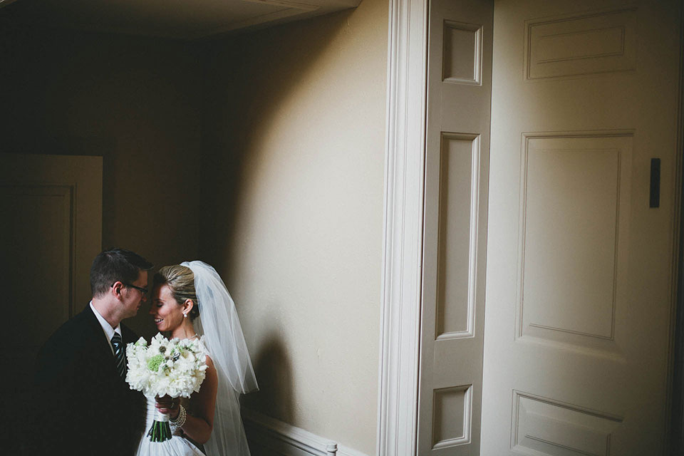 Bride and Groom Share an Intimate Moment After the Ceremony