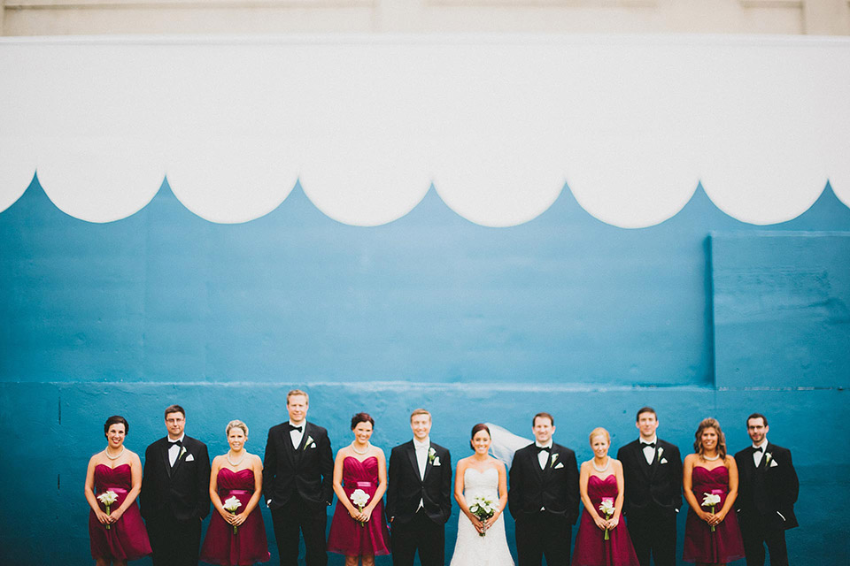 Colorful Dayton Wedding Bridal Party