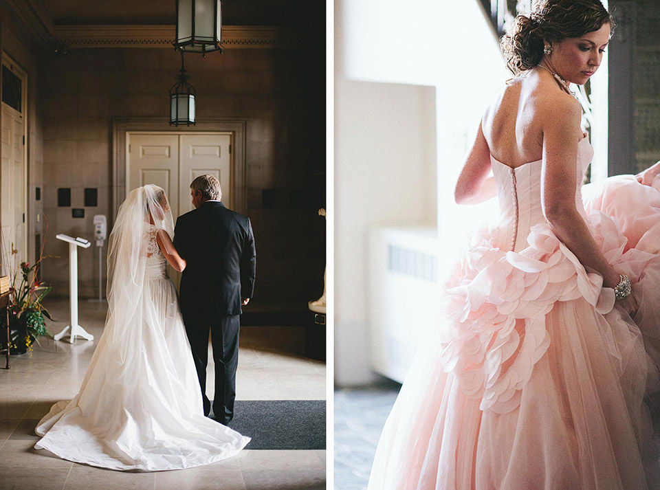 Denison University Pink Vera Wang Wedding Dress