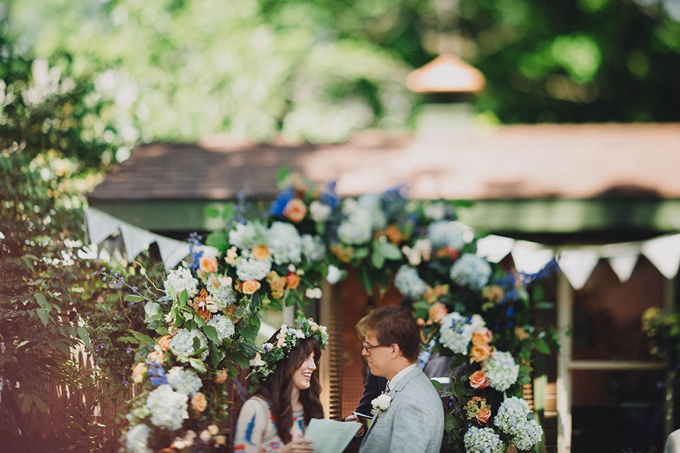 Ohio English Garden Wedding Ceremony