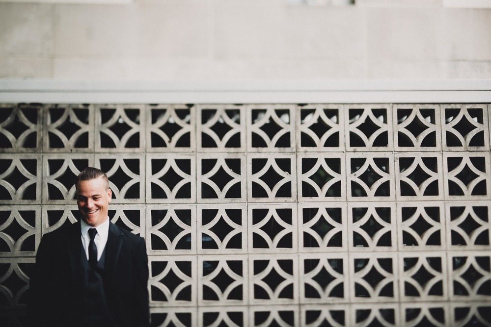 Dapper Groom Portrait Columbus Ohio Wedding
