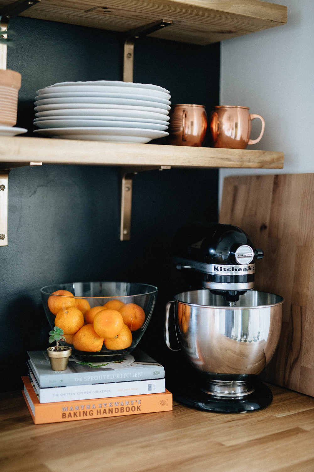 Kitchen Details - Butcher Block and Black Paint