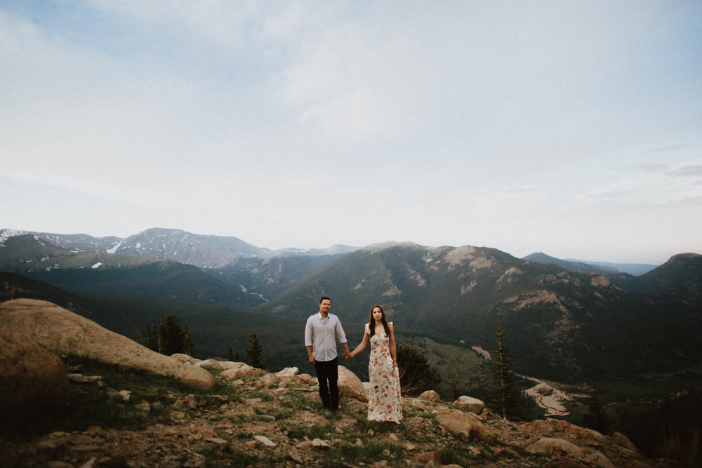 Estes Park Rocky Mountain National Park Engagement Session