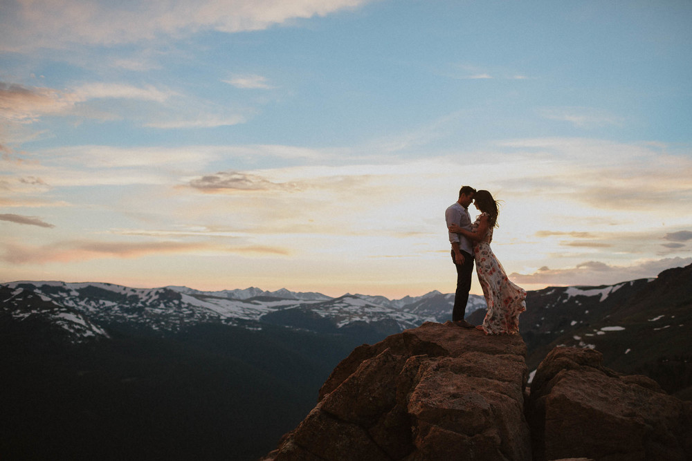 Silhouette RMNP Engagement Photos