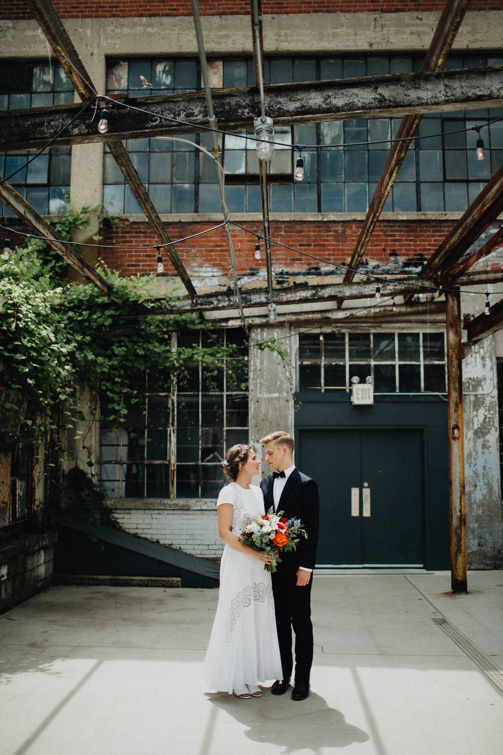 Anna and Brian's Gorgeous Modern Wedding at Strongwater Food and Spirits in Columbus, Ohio.